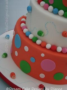 'CHLOE & ADAM' ~ LADYBIRD CHRISTENING CAKE