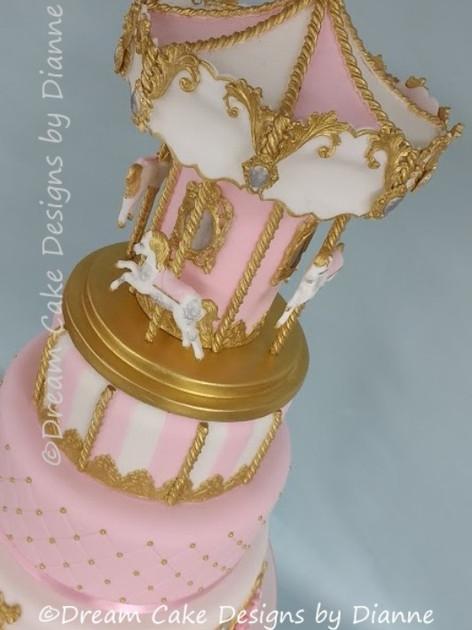 'ISLA FAITH' ~ CAROUSEL CHRISTENING CAKE