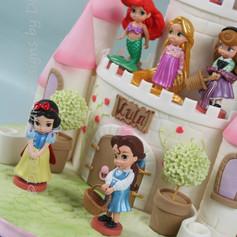 'LULA' ~ 2 TIER DISNEY THEMED PRINCESS CASTLE CAKE