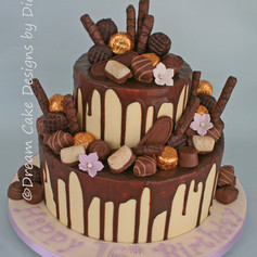 16th birthday ~ chocolate drip cake decorated with your favourite chocolates