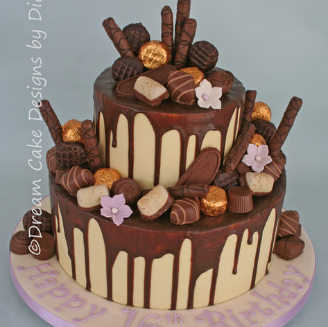 'DRIP CAKE' ~ decorated with your favourite chocolates