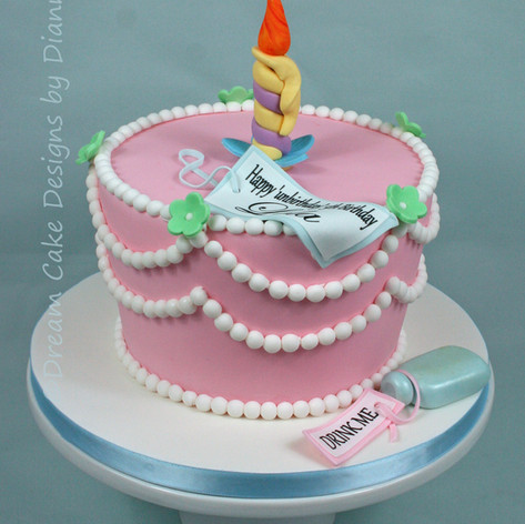 'LOLA' ~ MAD HATTER UNBIRTHDAY BIRTHDAY CAKE