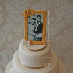 '50 GOLDEN YEARS'~ wedding anniversary cake