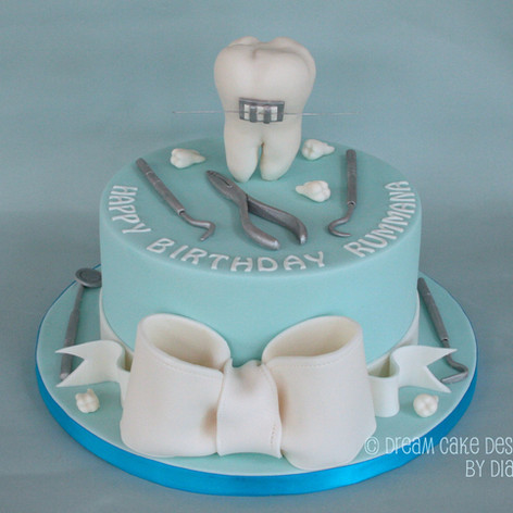 Dental themed birthday cake