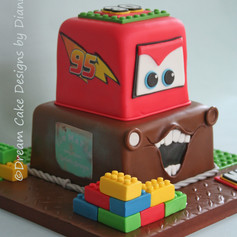'NICK' ~ CARS & LEGO THEMED CAKE