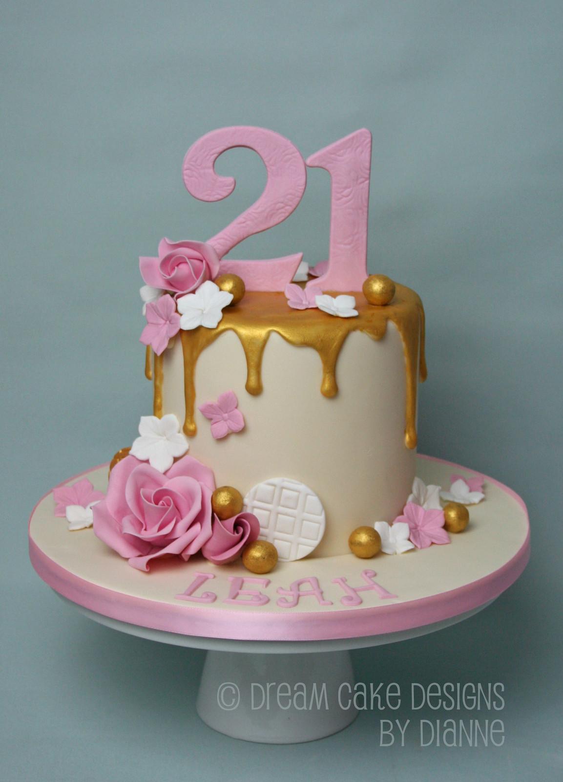 Swell Leah 21St Birthday Gold Drip Roses Funny Birthday Cards Online Alyptdamsfinfo