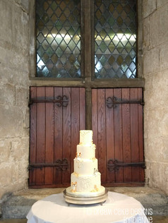 'Becca' 4 tier bespoke wedding cake featuring the couples beloved dogs