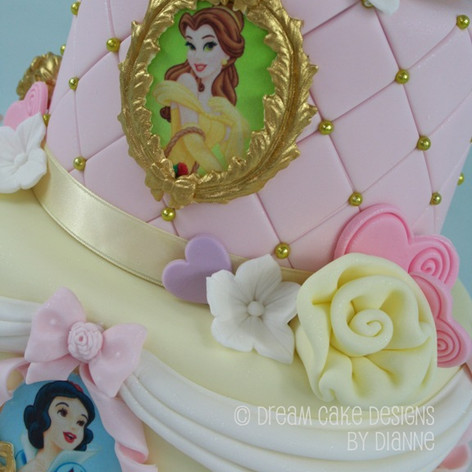 'EVA' ~ PRETTY 2 TIER PRINCESS THEMED CAKE