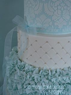 'EDEN JACOB' ~ STUNNING 5 TIER CHRISTENING CAKE WITH RUFFLES