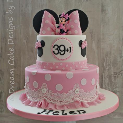 'HELEN' ~ pretty 39+1 themed birthday cake