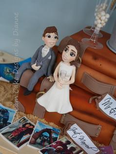 'CHELSEA' ~ Bride & Groom figurines