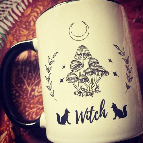 Starry Green Witch Mug - Fabulous & Fungi