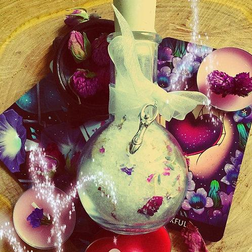 """Love thyself, Witch!"" - Self Love and Healing Bath Salts Potion Bottle"