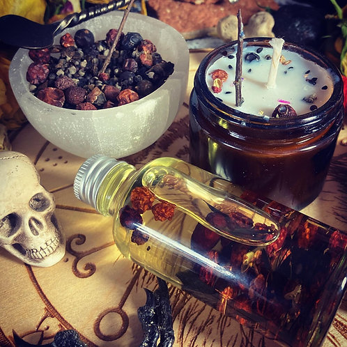 Bones, Claw & Crow Spell Kit - For Magical Self Defence & Justice