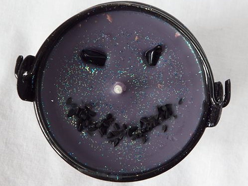 Purple Sparkly Jack O cauldron
