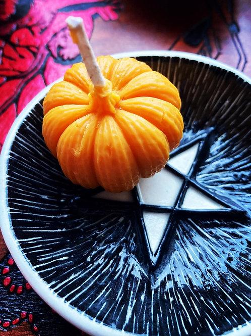 Mini Pumpkin Candle ★ Samhain Cutie