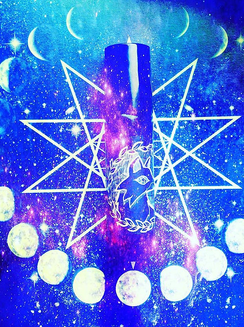 Starry Zodiac sign - anointing Spell Oil