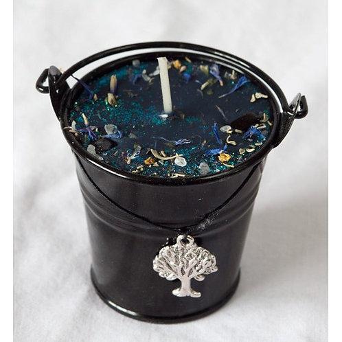 Ogham Ioho - Yew Celtic Spell Cauldron Candle