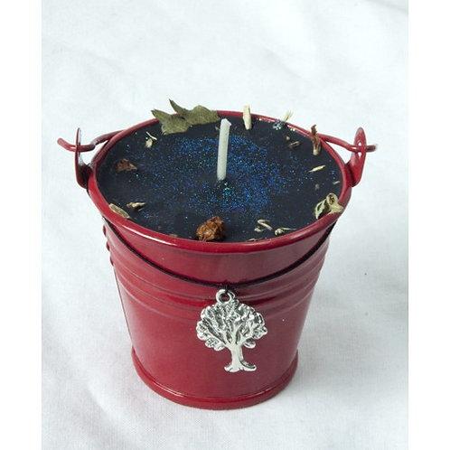 Ogham Luis - Rowan Celtic Spell Cauldron Candle