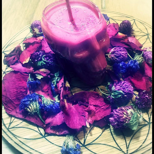 Love Potion, Love Witch - Skull Candle for Love Magick