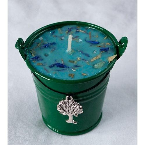 Ogham Fearn - Alder Celtic Spell Cauldron Candle