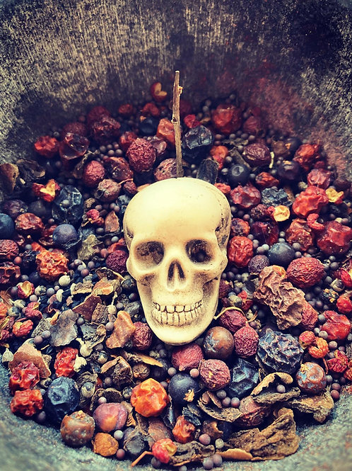 Spirit offering powder - Bones, Claw & Crow - For Magical Self Defence