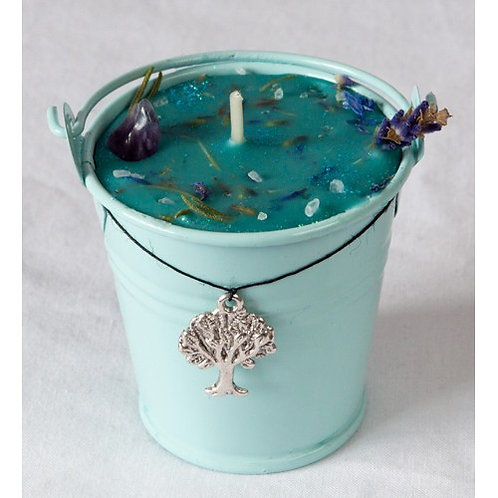 Ogham Saille - Willow Celtic Spell Cauldron Candle