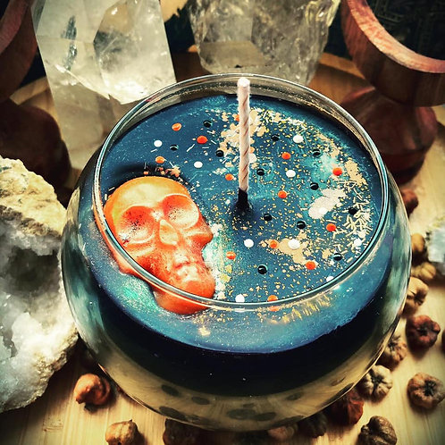 Halloween Spell Candle - Brewing it Witchly Cauldron