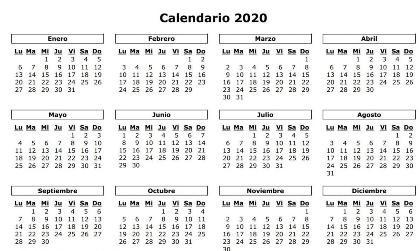 PLANIFICANDO LOS FESTIVOS DEL 2020