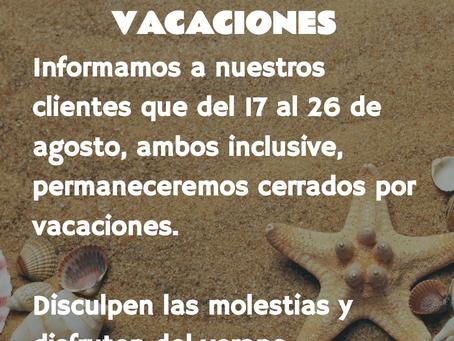 ROCAMORA CONSULTING: CERRADO POR VACACIONES