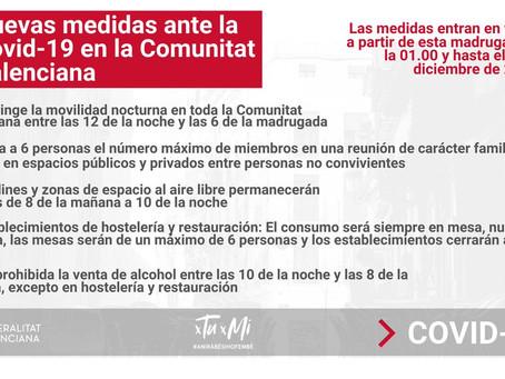 Nuevo Estado de alarma y restricciones en la Comunidad Valenciana, ¿cómo nos afectan?