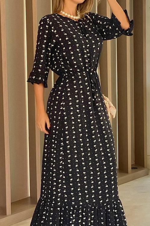 Vestido Longo Mini Margaridas