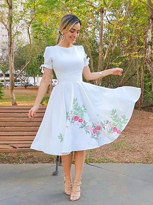 Vestido Camila Flores Rosas