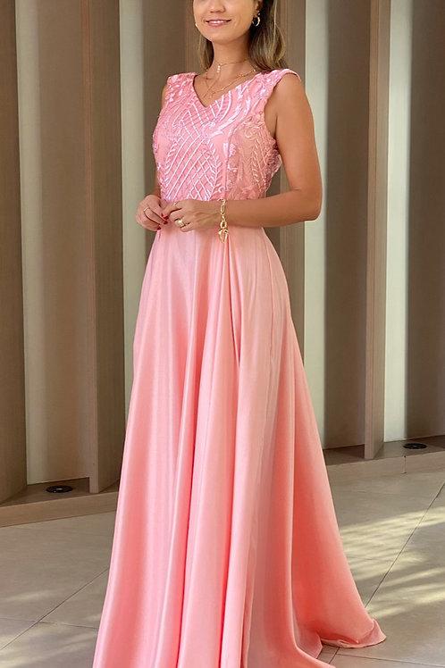 Vestido Rosa Deslumbrante