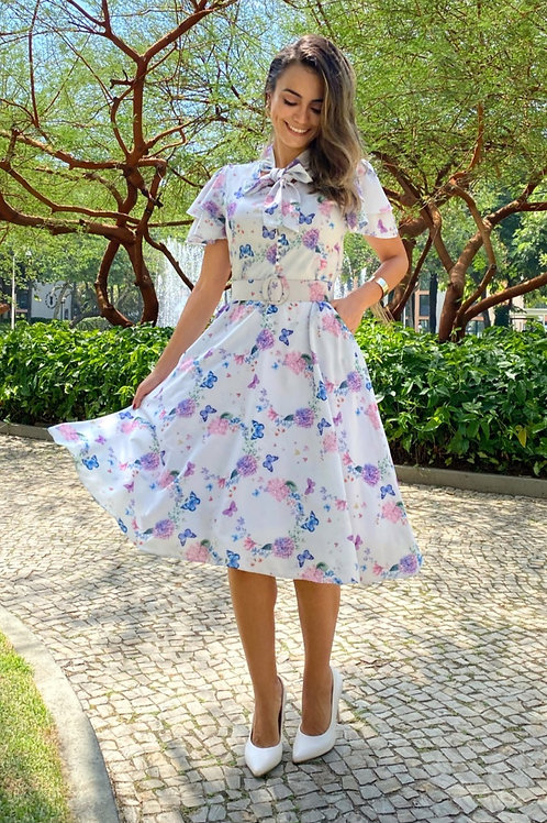 Vestido Jardim de Hortênsias