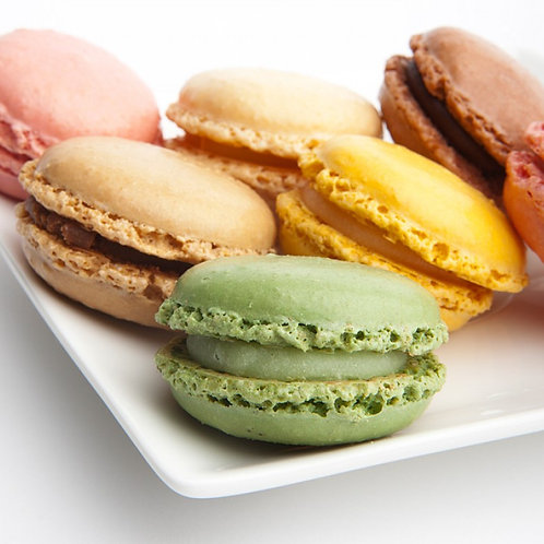 Macaroons ass. 4 forskellige, 3,5 cm.