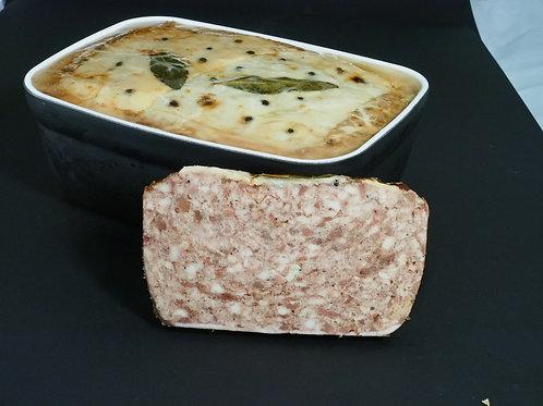 Terrine fraîche de porc Noir de Bigorre, 3 kg. - SAJOUS