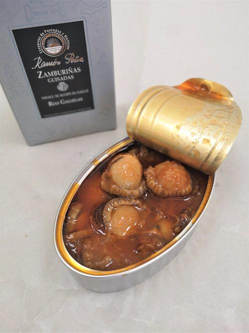 Kammuslinger i sauce, 110 gr. Ramon Pena