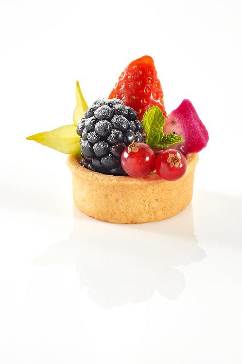 Mini tærtebund rund sødet, 4 cm., 240 stk. - PIDY