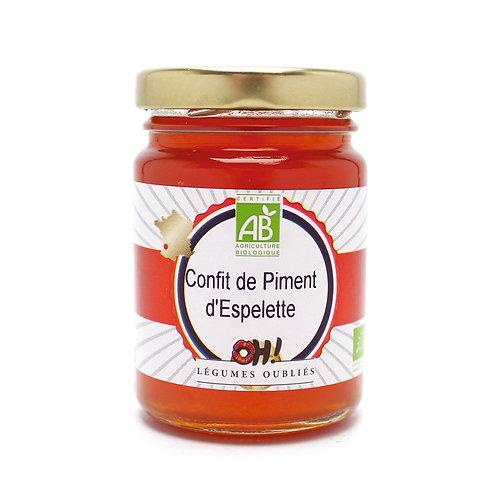 Confit de piment d'Espelette BIO, 120 gr.