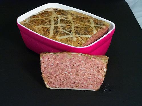 Terrine de Campagne de porc Duroc, 3 kg. - SAJOUS
