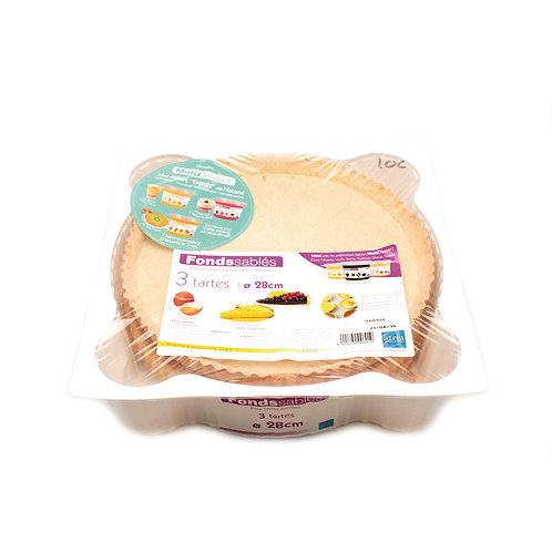 Tærtebund sød, 3 x 28 cm. ATRIA