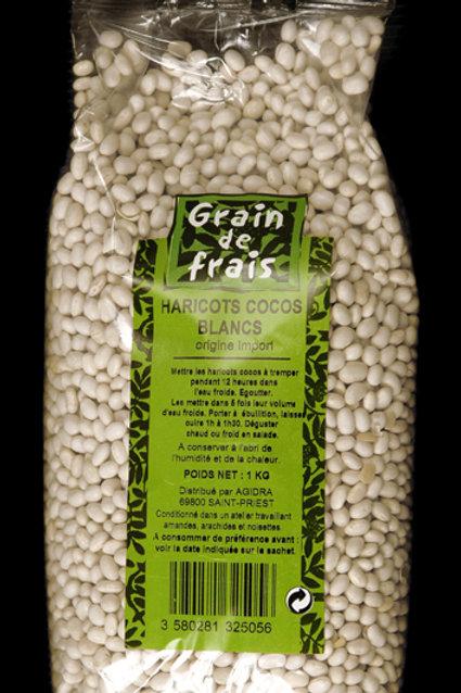 Coco blanc bønner, 1 kg.