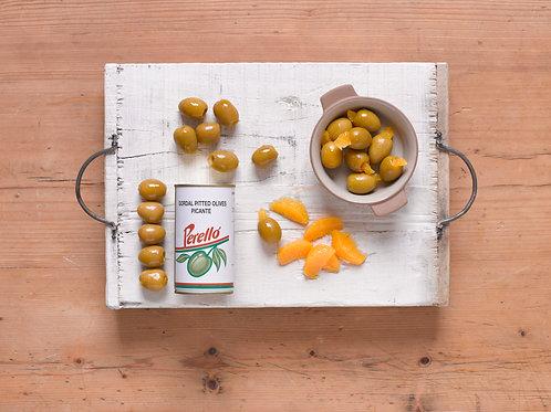 Gordal, Picante Oliven u.sten, 350 gr.