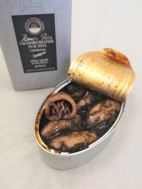 Blæksprutte i blæk, 110 gr. Ramon pena