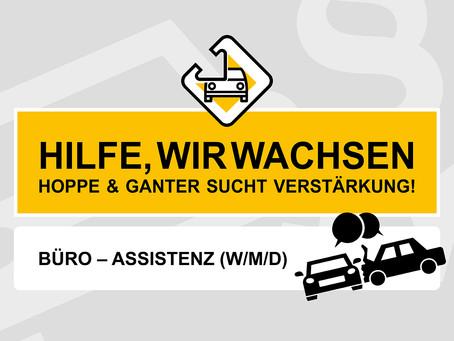 Büro-Assistenz (w/m/d) gesucht auf 450,- € oder halbtags