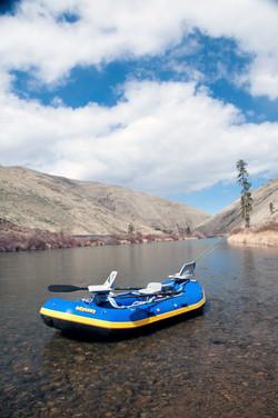 Raft on the Yakima River