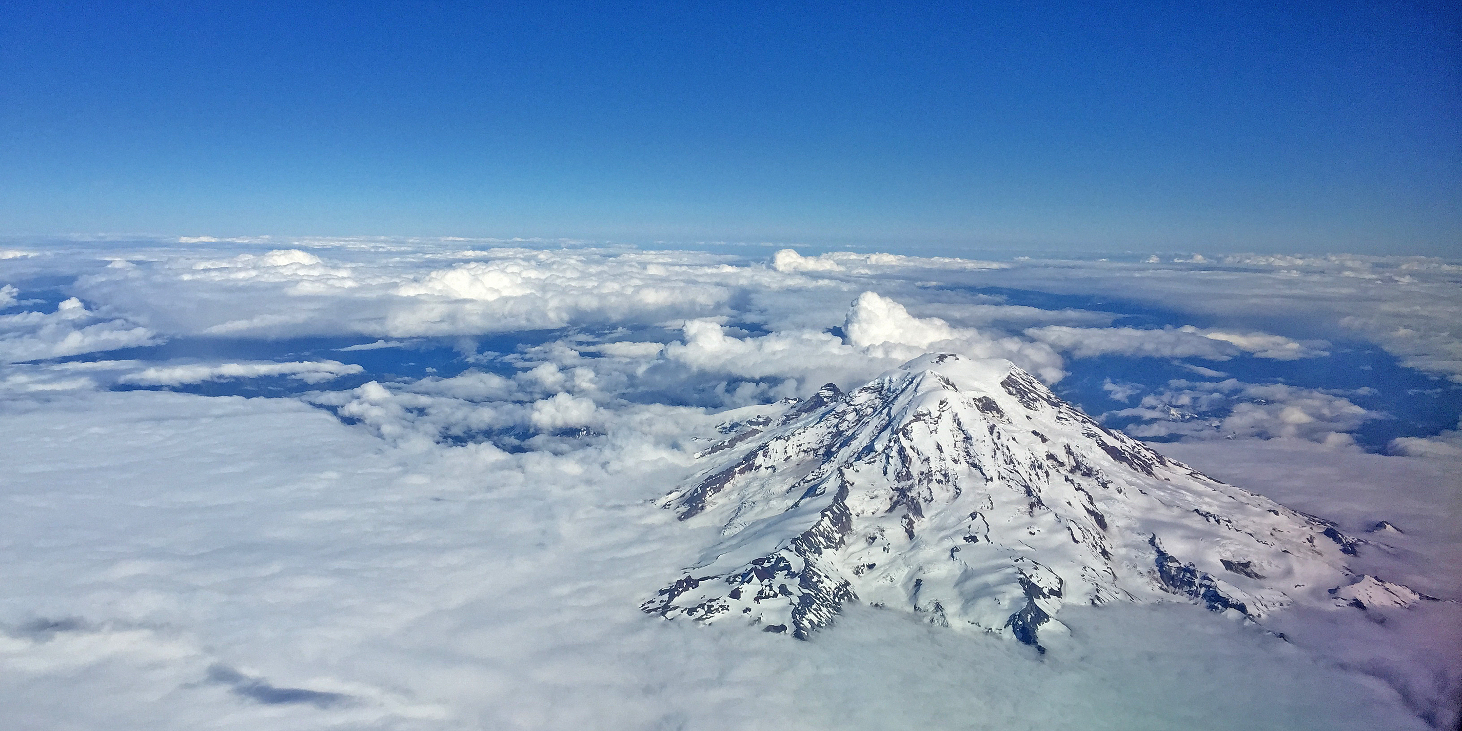 Mt Rainer from Above