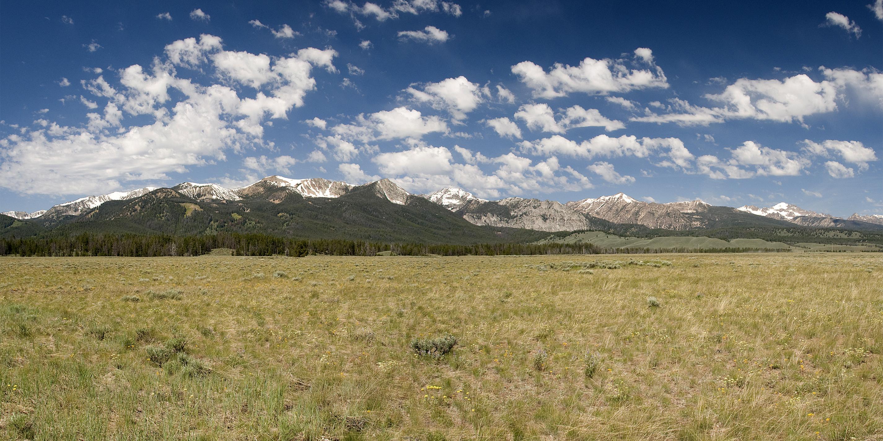 Sawtooth Mountains Panoramic