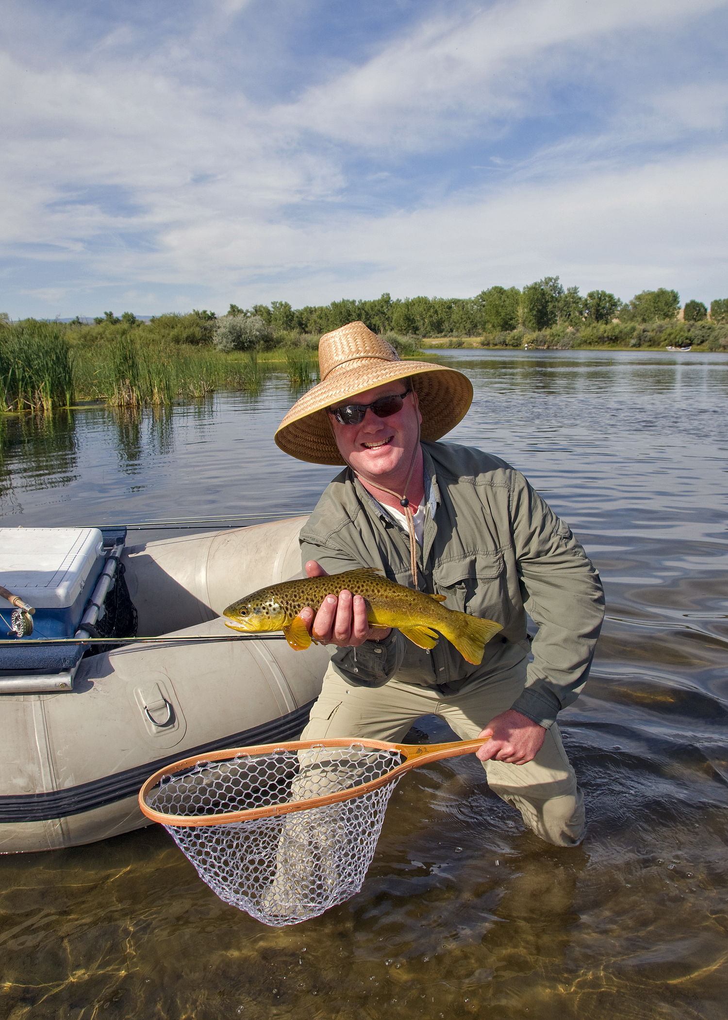 Brian with a Brown Trout